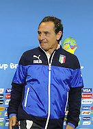 Italy head coach Cesare Prandelli during a press conference at Arena das Dunas, Natal<br />