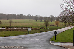 © Licensed to London News Pictures. 09/02/2020. London, UK. Richmond Park remains empty on Sunday morning as it closes its gates to the Public. Storm Ciara hits London and the South East as Richmond Park and 7 other Royal Parks close their gates this morning as weather experts predict stormy weather with very high winds and heavy rain for Sunday. Photo credit: Alex Lentati/LNP