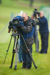 CARDIFF, WALES - Monday, October 13, 2008: Television cameras focus in on a Wales training session at the Vale of Glamorgan Hotel ahead of the 2010 FIFA World Cup South Africa Qualifying Group 4 match against Germany. (Photo by David Rawcliffe/Propaganda)