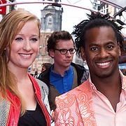 NLD/Amsterdam/20130921 - Premiere Planes, Rogier Komproe, partner en kinderen Noa en Alfie