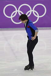 February 17, 2018 - Pyeongchang, KOREA - Keiji Tanaka of Japan competing in the men's figure skating free skate program during the Pyeongchang 2018 Olympic Winter Games at Gangneung Ice Arena. (Credit Image: © David McIntyre via ZUMA Wire)
