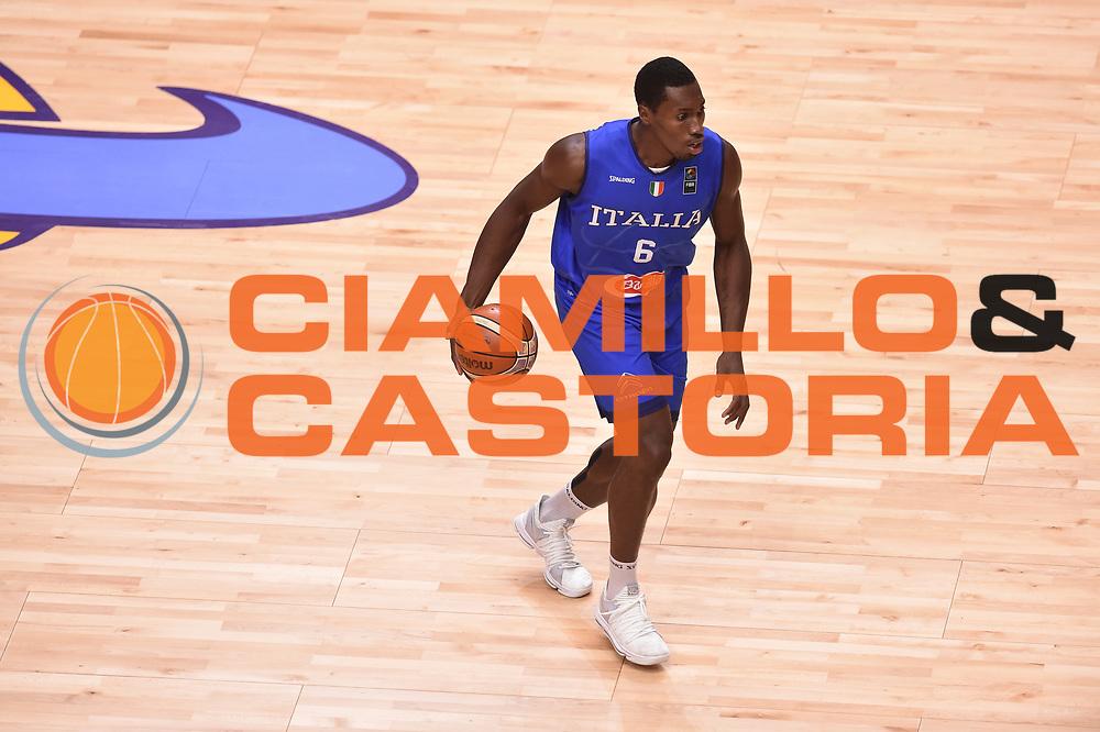 Paul Biligha<br /> Nazionale Italiana Maschile Senior<br /> Eurobasket 2017 - Group Phase<br /> Georgia  Italia Georgia Italy<br /> FIP 2017<br /> Tel Aviv, 06/09/2017<br /> Foto Ciamillo - Castoria/ GiulioCiamillo