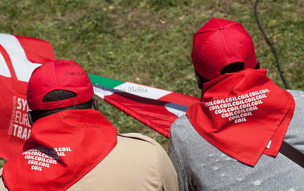 Manifestazione nazionale dei sindacati confederali a Portella della Ginestra nel 70° anniversario dalla strage. Presenti i segretari nazionali CGIL, CISL e UIL.
