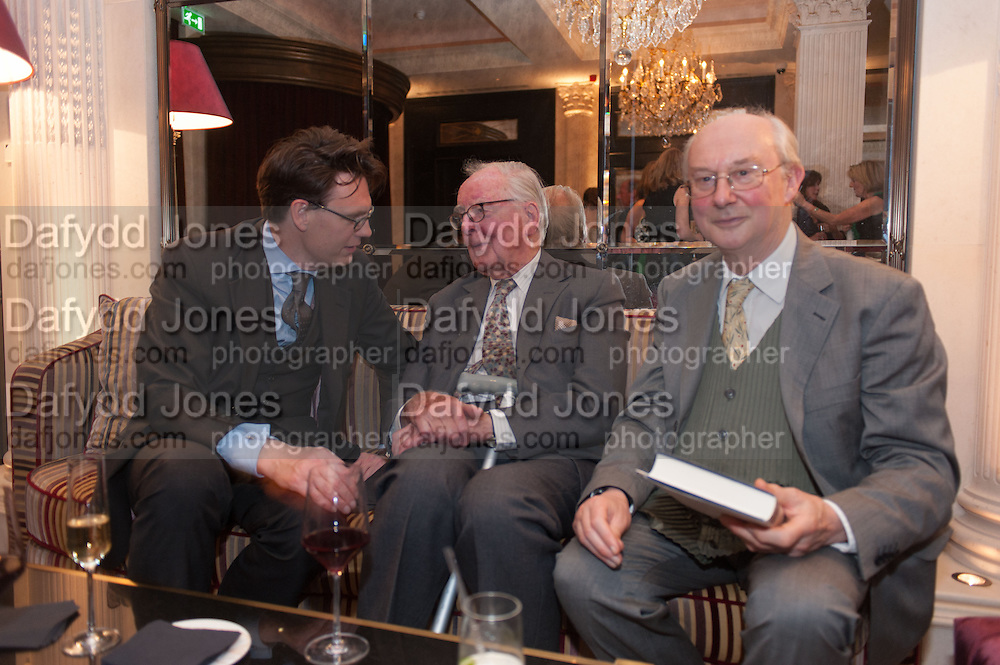 TOM GRANT; LORD HUTCHINSON; HUGH CECIL, Juliet Nicolson - book launch party for  her latest novel Abdication, about British society after the death of George V.  The Gallery at The Westbury, 37 Conduit Street, Mayfair, London, 12 June 2012