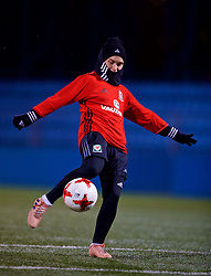 SAINT PETERSBURG, RUSSIA - Sunday, October 22, 2017: Wales' Jessica Fishlock during a training session at the Petrovsky Minor Sport Arena ahead of the FIFA Women's World Cup 2019 Qualifying Group 1 match between Russia and Wales. (Pic by David Rawcliffe/Propaganda)
