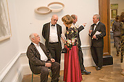 SIR HOWARD HODGKIN, JAMES FENTON, JOAN BAKEWELL AND ANTONY PEATTIE, 240th Royal Academy Summer Exhibition. Annual dinner. Piccadilly. London. 3 June 2008.  *** Local Caption *** -DO NOT ARCHIVE-© Copyright Photograph by Dafydd Jones. 248 Clapham Rd. London SW9 0PZ. Tel 0207 820 0771. www.dafjones.com.