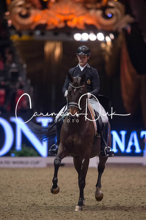 Missiaen Simon (BEL) - Vradin<br /> Reem Acra FEI World Cup Dressage K&uuml;r<br /> London International Horse Show Olympia 2013<br /> &copy; Hippo Foto - Jon Stroud