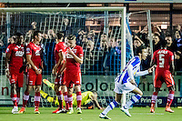 LIENDEN - 21-09-2016, FC Lienden - AZ, Sportpark de Abdijhof, Lienden speler Mohammed Bendadi scoort hier de 1-1, doelpunt