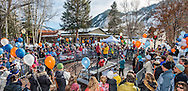 The annual canine fashion show during Winterskol in Aspen, Colorado.