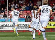 Michael Tonge of Port Vale celebrates his goal during the Sky Bet League 2 match at  Checkatrade.com Stadium, Crawley<br /> Picture by Liam McAvoy/Focus Images Ltd 07413 543156<br /> 05/08/2017
