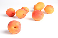 Studo shot of apricot fruits