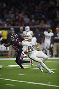 Miami Dolphins tight end Mike Gesicki (86) in action during the NFL week 8 regular season football game against the Houston Texans on Thursday, Oct. 25, 2018 in Houston. The Texans won the game 42-23. (©Paul Anthony Spinelli)