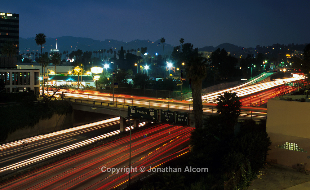 SUNSET BLVD 1998-2001 101 Freeway at Sunset Blvd in Hollywood  ©Jonathan Alcorn