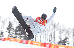 USA's Arielle Gold during the Ladies Halfpipe Snowboard Qualification during day three of the PyeongChang 2018 Winter Olympic Games in South Korea.