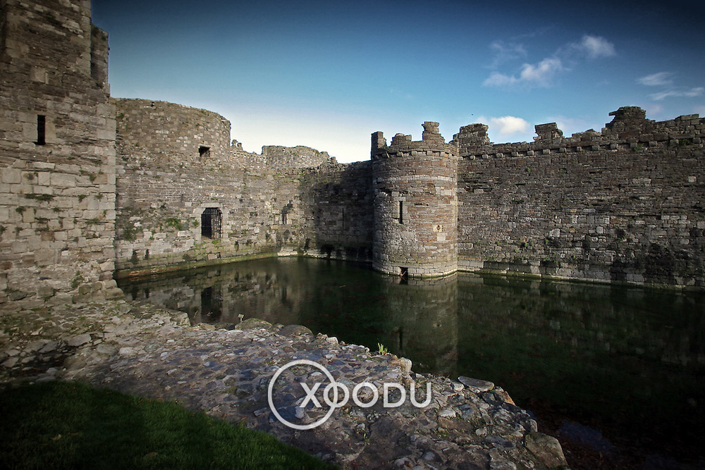 Beaumaris castle moat, Beaumaris, Wales (November 2005)