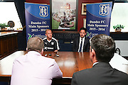 Nicky Low speaks to the press - Dundee FC kit 2015-16 launch<br /> <br />  - &copy; David Young - www.davidyoungphoto.co.uk - email: davidyoungphoto@gmail.com