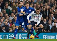 Football - 2016 / 2017 Premier League - Tottenham Hotspur vs. Leicester City<br /> <br /> Vincent Janssen of Tottenham and Robert Huth of Leicester City at White Hart Lane.<br /> <br /> COLORSPORT/DANIEL BEARHAM