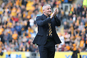 Dean Windass applauds the fans during the Sky Bet Championship play-off 2nd leg match between Hull City and Derby County at the KC Stadium, Kingston upon Hull, England on 17 May 2016. Photo by Simon Davies.