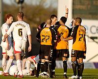 Photo: Leigh Quinnell.<br /> Milton Keynes Dons v Barnet. Coca Cola League 2. 20/01/2007. Referee Andre Mariner sends off Barnets Dean Sinclair.