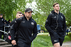 Ben Moon and the rest of the Exeter Chiefs team arrive at Allianz Park - Mandatory byline: Patrick Khachfe/JMP - 07966 386802 - 04/05/2019 - RUGBY UNION - Allianz Park - London, England - Saracens v Exeter Chiefs - Gallagher Premiership Rugby