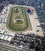 aerial view of New Orleans Fair Grounds racetrack