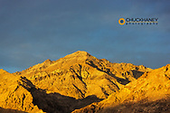 Late light stikes the Grapevine Mountains in Death Valley National Park, California, USA