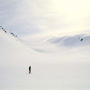 Garibaldi Provincial Park, British Columbia, Canada --- Back-country skier on a glacier © Christopher J. Morris