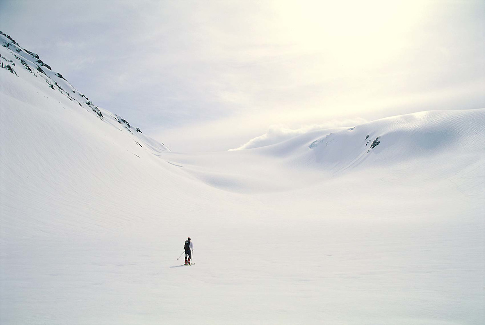 Garibaldi Provincial Park, British Columbia, Canada --- Back-country skier on a glacier © Christopher J. Morris