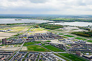 Nederland, Flevoland, Almere, 07-05-2015;  Almere-Poort, stadsdeel in ontwikkeling.<br /> New town Almere Poort ('gate'), district in development.<br /> luchtfoto (toeslag op standard tarieven);<br /> aerial photo (additional fee required);<br /> copyright foto/photo Siebe Swart