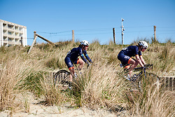 Mieke Kröger (GER) and Sara Penton (SWE) at Healthy Ageing Tour 2019 - Stage 1, a 102.5 km road race starting and finishing in Borkum, Germany on April 10, 2019. Photo by Sean Robinson/velofocus.com