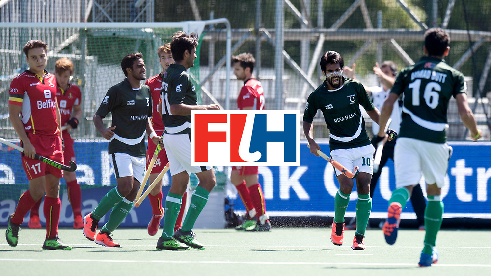 BREDA - Rabobank Hockey Champions Trophy<br /> 5th/6th place Belgium - Pakistan<br /> Photo: SHAN Ali celebrates his goal.<br /> COPYRIGHT WORLDSPORTPICS FRANK UIJLENBROEK