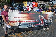 Roma 11 Giugno 2011.EuroPride 2011.La Sfilata del Gay pride, la giornatà dell' orgoglio omossessuale per le vie della città. I fans del cantante Tiziano Ferro