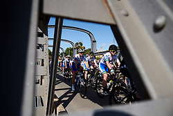Shara Gillow (AUS) in the bunch on Stage 2 of 2020 Santos Women's Tour Down Under, a 114.9 km road race from Murray Bridge to Birdwood, Australia on January 17, 2020. Photo by Sean Robinson/velofocus.com
