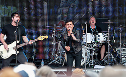 Pictured: Scots rockers GUN on stage  in front of a sell out 9000 crowd at Party at the Palace in Linlithgow close to historic Linlithgow Palace . Andrew West/ EEm