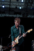 Photos of Nels Cline, Mike Watt, Yuka Honda and Dougie Bowne playing Central Park Summerstage