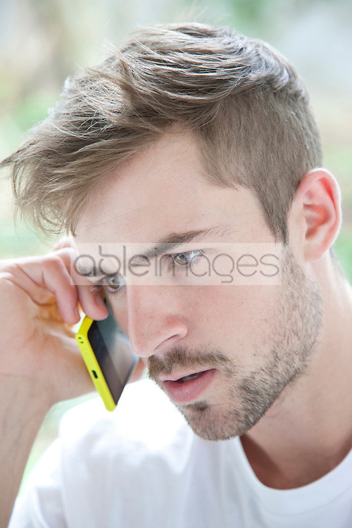 Man Using Smartphone, Close-up View