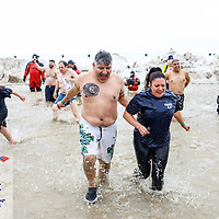 Special Olympics Chicago Polar Plunge at North Ave. Beach, Chicago, Ill. Sunday, March 3, 2019.<br />