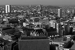BBRUSSELS, BELGIUM - APRIL-04-2007 -  Brussels cityscape and skyline of downtown / city center of Brussels, the St. Michelle Cathedral and the dome of the Justice Palace in the distance. (Photo © Jock Fistick)