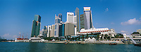 Singapour. Le Busness center depuis la Marina. // Singapore. Busness center from the Marina.