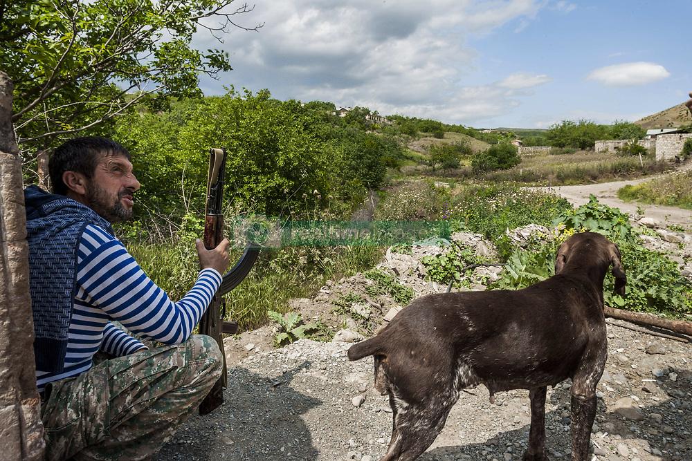 June 2, 2017 - Talish, Martakert, Nagorno Karabakh - Member of the militia of Nagorno Karabakh in Talish village, resting after a patrol close to the positions of Azerbaijan army. (Credit Image: © Celestino Arce via ZUMA Wire)