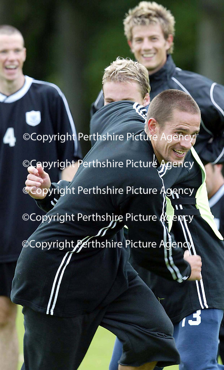 St Johnstone training...12.07.04<br />