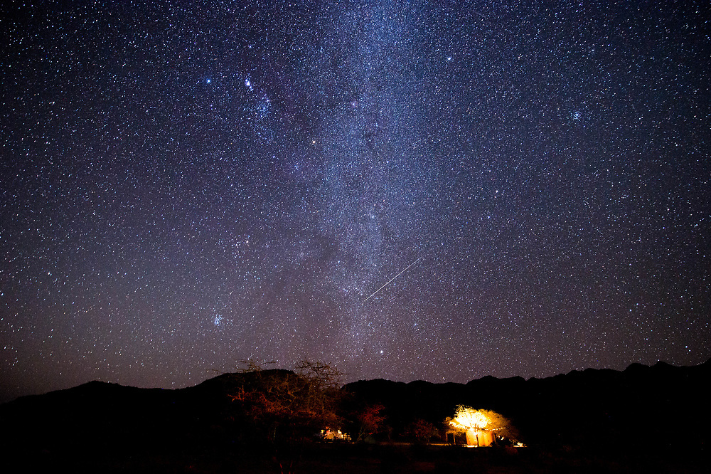 Photographing night sky near Solitaire, Namibia