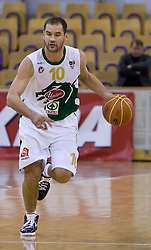 Dusan Djordjevic (10) of Olimpija at basketball match of 4th Round of NLB League between KK Union Olimpija and KK Crvena zvezda,  on October 24, 2009, Arena Tivoli, Ljubljana, Slovenia.  Union Olimpija won 94:76.  (Photo by Vid Ponikvar / Sportida)