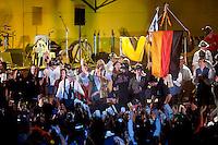 FIESTA NACIONAL DE LA CERVEZA OKTOBERFEST, ESPECTACULO EN EL ESCENARIO, VILLA GENERAL BELGRANO, VALLE DE CALAMUCHITA, PROVINCIA DE CORDOBA, ARGENTINA