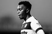 Forest Green Rovers Tahvon Campbell(14) during the EFL Sky Bet League 2 match between Forest Green Rovers and Morecambe at the New Lawn, Forest Green, United Kingdom on 17 November 2018.