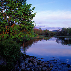 Acadia N.P., ME. Northeast Creek. Tidal creek. Sunset. Spring. Mt. Desert Island.