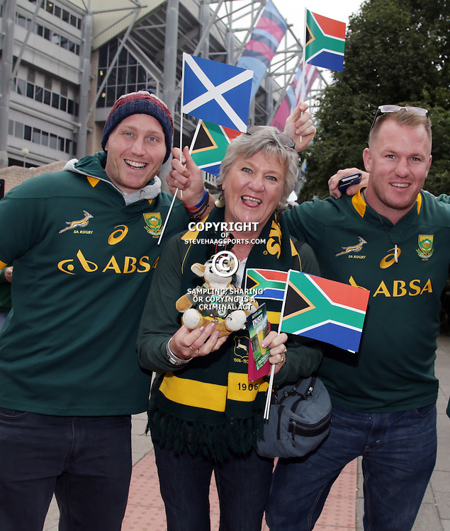 NEWCASTLE UPON TYNE, ENGLAND - OCTOBER 03: General views of Fans during the Rugby World Cup 2015 Pool B match between South Africa and Scotland at St James Park on October 03, 2015 in Newcastle upon Tyne, England. (Photo by Steve Haag/Gallo Images)