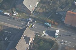 Luftbild einer Straßenblockade im Wendland<br /> <br /> Ort: Lübbow<br /> Copyright: Andreas Conradt<br /> Quelle: PubliXviewinG