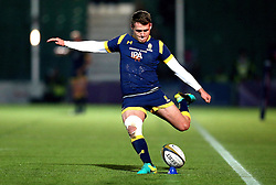 Jamie Shillcock of Worcester Warriors kicks a conversion - Mandatory by-line: Robbie Stephenson/JMP - 04/11/2016 - RUGBY - Sixways Stadium - Worcester, England - Worcester Warriors v Bristol Rugby - Anglo Welsh Cup