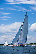 Ranger and Hanuman, J Class, sailing in race 2 during the Newport Bucket Regatta.